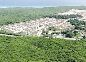 An aerial view of Coral Spring Village in Trelawny